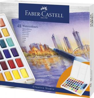 Aquarellfarbkasten / Näpfchen 48er Faber Castell