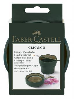 Faber Castell Wasserbecher CLIC & GO grün