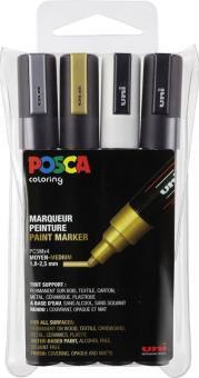 Posca Marker 4er Etui  PC-5M 1,8 - 2,5mm