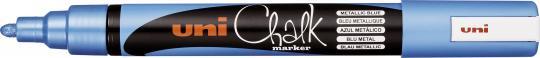 UNI CHALK MARKER PWE-5M blau-metallic