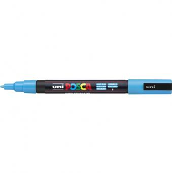 Posca Marker hellblau-8 PC-3M (Rundspitze fein)  0,9 - 1,3  mm