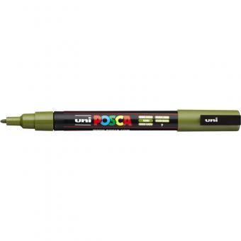 Posca Marker khakigrün-7 PC-3M  (Rundspitze fein) 0,9 - 1,3  mm