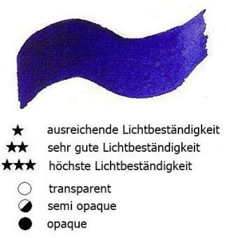 19 Indigoblau Renesans Aquarellfarbe Godet 1/2 Napf
