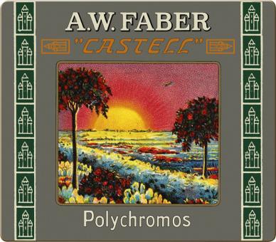 Farbstift POLYCHROMOS Metalletui 24er / Limitierte Auflage 111 Jahre