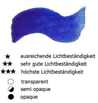 22 Phtaloblau Renesans Aquarellfarbe Godet 1/2 Napf