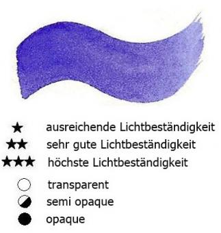 24 Ultramarinblau Renesans Aquarellfarbe Godet 1/2 Napf