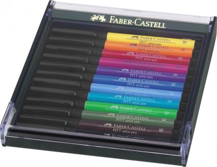 Faber Castell Tuschestift PITT artist pen B  12er Set Basic
