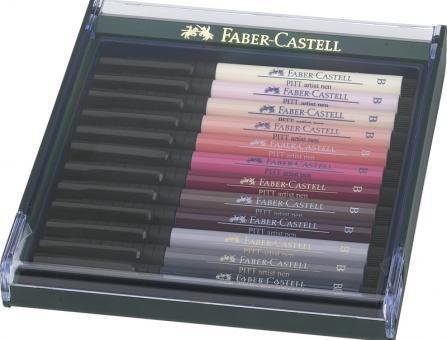 Faber Castell Tuschestift PITT artist pen B  12er Set Skin tones - Hauttöne