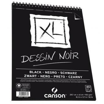 CANSON XL A3 Dessin Noir  Spiralbindung oben