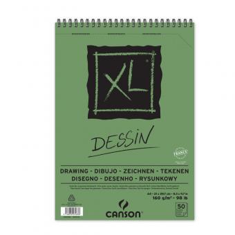 CANSON XL A4 Dessin Spiralbindung oben
