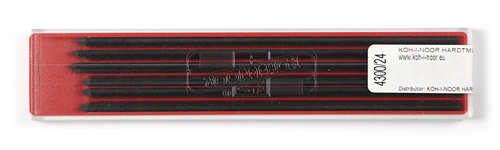 Farbminen Schwarz Ø 2mm, 120mm lang 12er Set