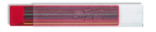 Farbminen 6er Set, Farbig sotiert,  Ø 2mm, 120mm