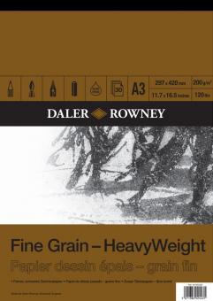 Daler Rowney Fine Grain A3 - feinköriges Zeichenpapier 200g/m² Block