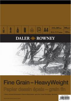 Daler Rowney Fine Grain - feinköriges Zeichenpapier 200g/m² Block A4