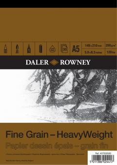 Daler Rowney Fine Grain A5 - feinköriges Zeichenpapier 200g/m² Block