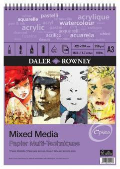 Daler Rowney A3 Mixedmedia Optima Spiralbindung oben