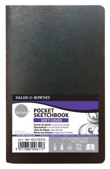 Skizzenbuch  Pocket Soft Cover 8,9x14cm Blanko