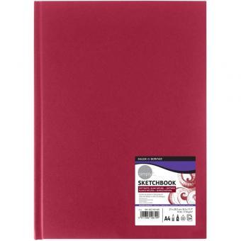 Skizzenbuch DIN A4 roter Hardcover Einband softweiß 54 Blatt