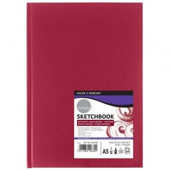 Skizzenbuch DIN A5 roter Hardcover Einband softweiß 54 Blatt