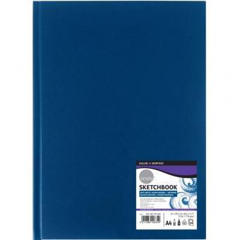 Skizzenbuch DIN A4 blauer Hardcover Einband softweiß 54 Blatt