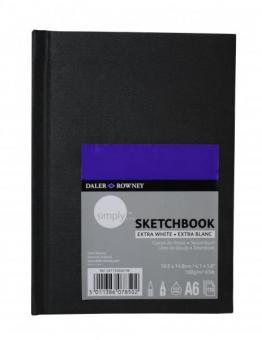 """Skizzenbuch DIN A6 """"extra weiss"""" 110 Blatt 100g/m²"""