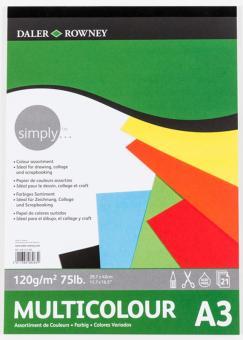 Daler Rowney Simply Farbpapierblock A3