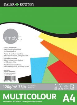 Daler Rowney Simply Farbpapierblock A4