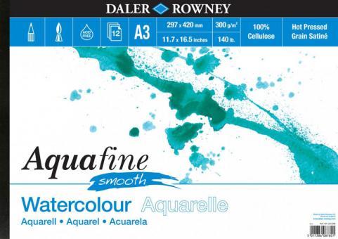 Daler Rowney Aquafine Aquarellblock Smooth A3