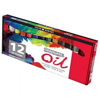 Daler Rowney Graduate 12x22ml Ölfarben Set