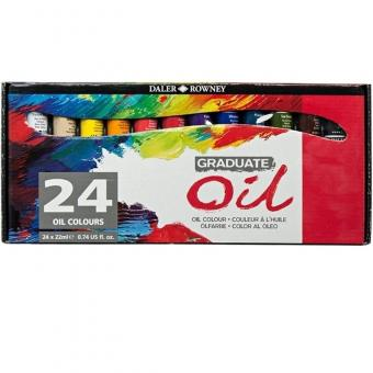 Daler Rowney Graduate 24x22ml Ölfarben Set