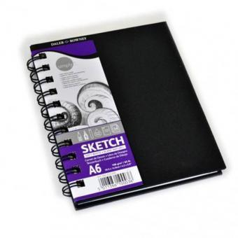 Skizzenbuch DIN A6 Spiralbindung naturweiß 54 Blatt