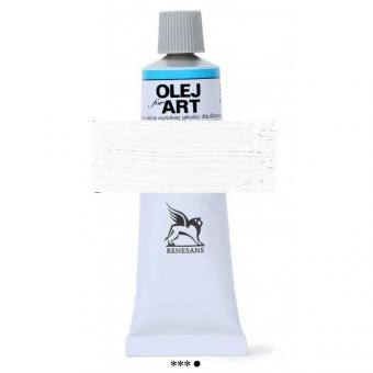 53 Titanweiss Konzentrat  Renesans Oils for Art 60ml Metalltube