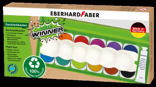 Green Winner Deckfarbkasten, 12 Farben inkl. Mischpalette