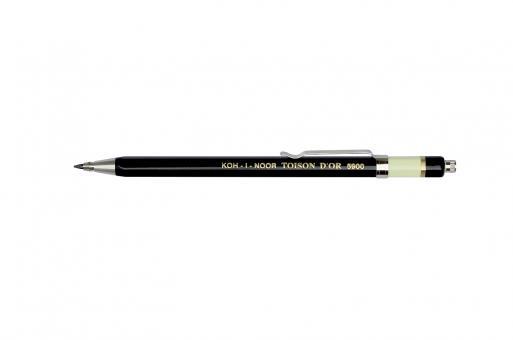 Metall Druckbleistift ∅2,0 mm mit Clip schwarz TOISON D´OR 5900
