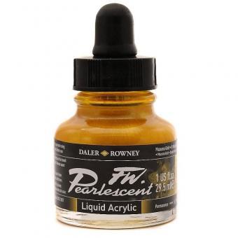 Daler Rowney Pearlescent Acryl Tinte Mazuma Gold 29,5ml