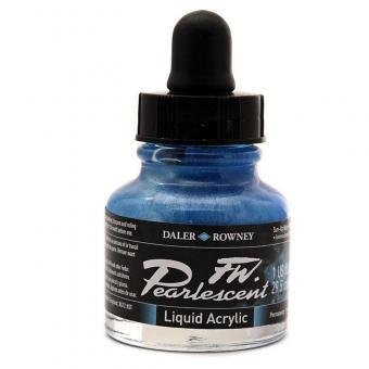 Daler Rowney Pearlescent Acryl Tinte Sun-Up Blue 29,5ml
