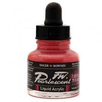 Daler Rowney Pearlescent Acryl Tinte Volcano Red 29,5ml