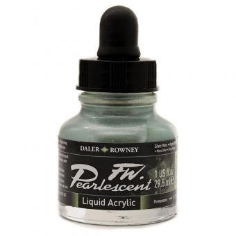 Daler Rowney Pearlescent Acryl Tinte Silver Moos 29,5ml