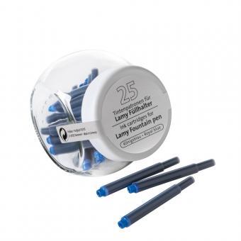 Tintenpatronen Blau für Lamy 25er Glas