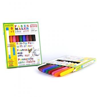 ökoNORM Fasermaler 9+1 inkl. Löschstift - 9 Farben