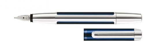 Pelikan Pura Füllfederhalter blau-silber  inkl. Gravur