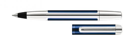 Pelikan Pura Tintenroller blau-silber  inkl. Gravur