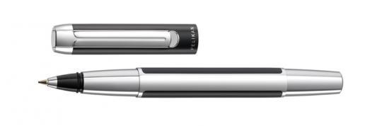 Pelikan Pura Tintenroller schwarz-silber  inkl. Gravur