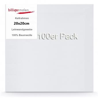 Keilrahmen 20 x 20 100er Pack
