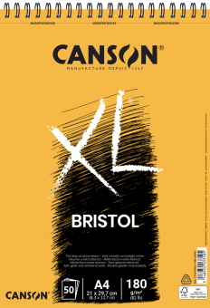 CANSON XL A4 Bristol Spiralbindung