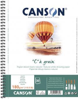 """Canson® Zeichenpapierblock""""C"""" à grain®, DIN A5+, 180 g/qm Grau"""
