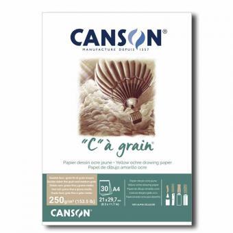 """AKTION Canson® Zeichenpapier""""C"""" à grain® couleur, DIN A4, 250 g/qm Ockergelb"""