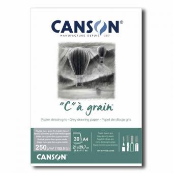 """AKTION Canson® Zeichenpapier""""C"""" à grain® couleur, DIN A4, 250 g/qm Grau"""