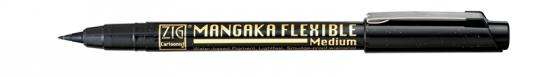Kuretake ZIG Mangaka Flexible Medium Black