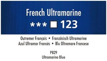 Daler Rowney Georgian 123 Französisch Ultramarin / French Ultramarine 37 ml Wassermischbare Ölfarbe